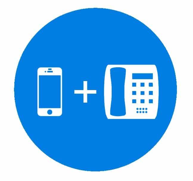 Hosted løsning -  Mobil, IP-telefon og softphone  på samme lokalnummer.