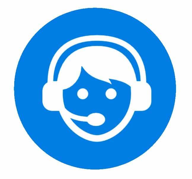 Hosted løsning -  Ved kald til medarbejderkan man trykke 0 for at springe til kundeservice eller lægge en besked.
